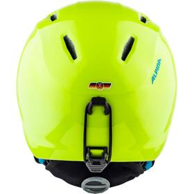 Alpina Carat LX Casco de esquí Niños, neon-yellow